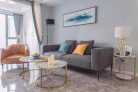河北石家莊紫蘋果裝飾悅庭雅苑72平兩室一廳案例圖