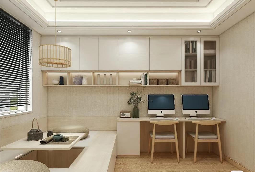 河北石家莊紫蘋果裝飾潤佳花園138三室兩廳現代簡約案例圖
