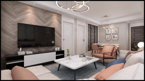美式風格三居室設計效果