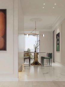 石家莊紫蘋果裝飾天晟洋房140平三室兩廳現代簡約案例圖