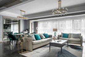 重慶約克郡140平4房現代輕奢風格裝修設計作品案例