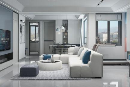 《藍調》現代|110平米舊房改造