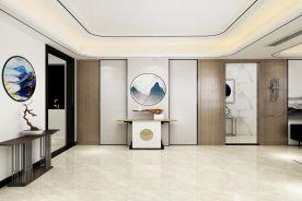 廣州雅致新中式風格三居室裝修案例