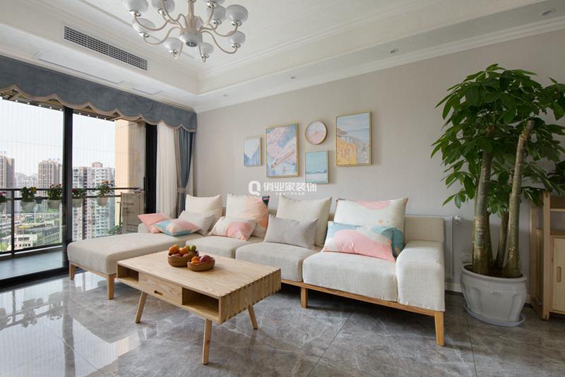 重慶北大資源燕南3房簡約北歐風格裝修設計作品案例