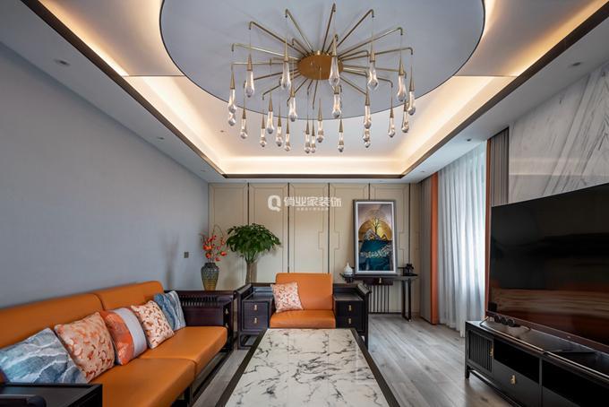 重慶瑪瑙花園平層中式風格裝修設計作品案例