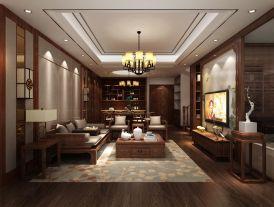 復式中式奢宅裝修設計效果