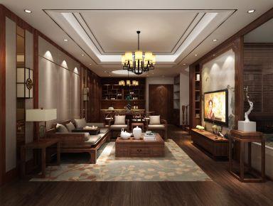 复式中式奢宅装修设计效果