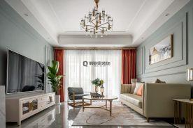 重慶恒大世紀城底躍美式混搭風格裝修設計案例作品