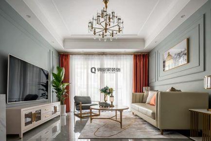 重庆恒大世纪城底跃美式混搭风格装修设计案例作品