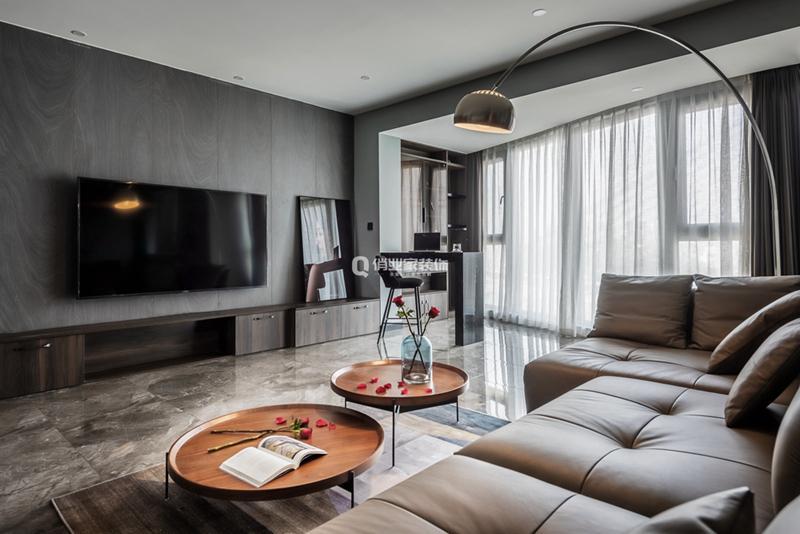 重慶金沙港灣3房現代風格裝修作品案例