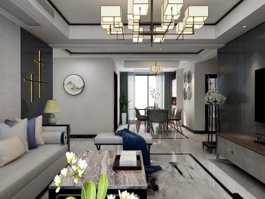 怡景城市花园中式风格三居装修案例,雅韵端庄,舒适高档