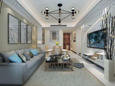 学府名城现代三居室装修,简单而又舒适