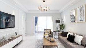 西郡蘭庭現代風格三居室裝修設計