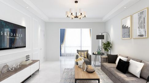 西郡兰庭现代风格三居室装修设计