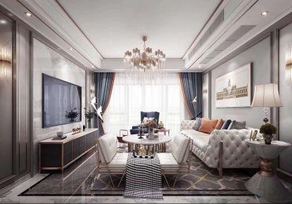 美式轻奢三居室装修案例