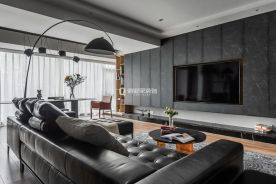 重慶中交中央公園4房現代風格裝修設計案例作品