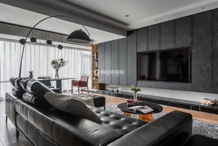重庆中交中央公园4房现代风格装修设计案例作品