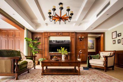 重庆江南融府4房美式风格装修设计案例作品
