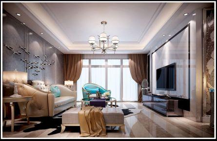 轻奢简欧风格三居室装修案例
