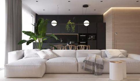 114平三室一厅装修效果图,简约意境,也能装出高档范!