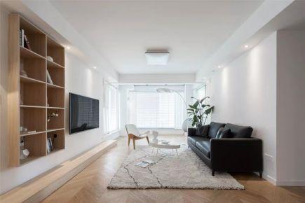 140㎡现代简约风格新房装修,人字拼地板好温柔!