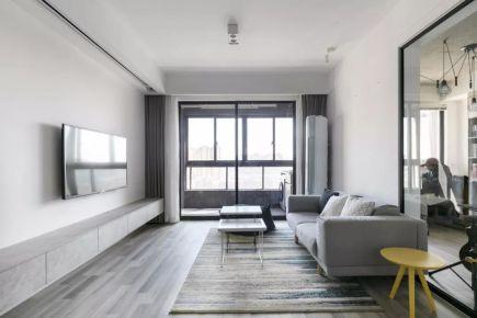 93平小户型装修效果图,三室改两室,透明书房太有个性了!