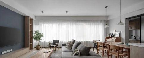 100m² 现代风格新房装修,横厅舒适敞亮!