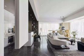 郑州现代简约风三居室装修,时尚优雅演绎都市美学!