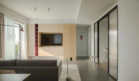 119㎡北欧风格新房装修,电视柜收纳功能强大!