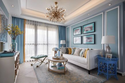 浪漫简欧风格三居室,浸润着艺术的高雅气质与格调