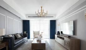 143㎡简约美式风格新房装修,卧室衣柜太好看了!