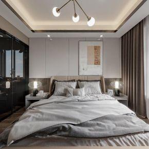 黑白灰现代风格四居室装修