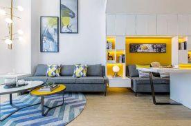 简约Loft单身公寓,以潮流黄色点缀空间,时尚又温馨