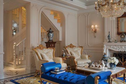 别墅超豪华欧式风格装修,超绚丽的精致奢华生活