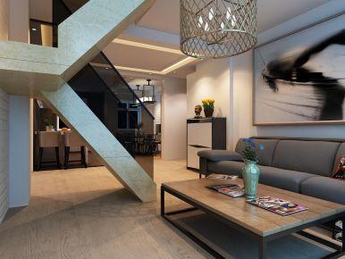 盘锦楚航装饰《康桥N区天玺城》120平loft风格装修效果图