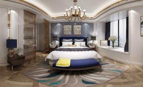 现代轻奢四居室,华丽高级,温情舒适