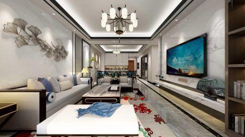 新中式风格装修,现代极简的硬装,古朴大气的软装,营造庄重雅致