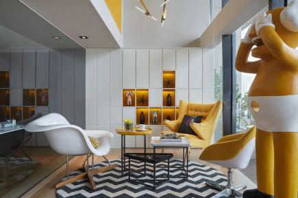 简约北欧风格新房装修,明亮黄调治愈系美宅
