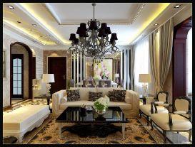 简欧风格四居室装修,优雅复古