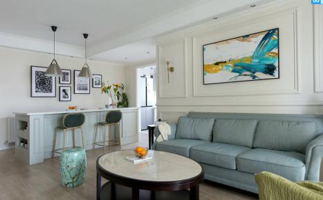 简约美式风格四居室装修效果图