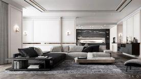 盘锦257平轻奢风格大平层楚航装饰装修设计案例咨询-175-4278-1760
