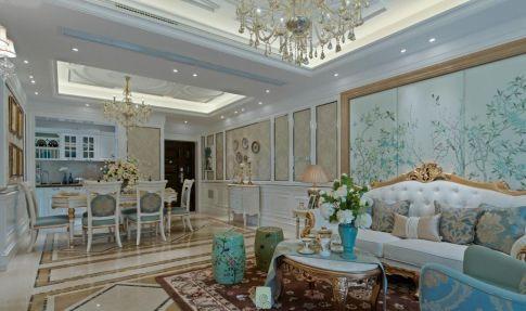 蓝色系的法式风格装修,透露着浪漫和高贵!