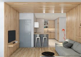 现代原木风三居室,自然温和好舒适~