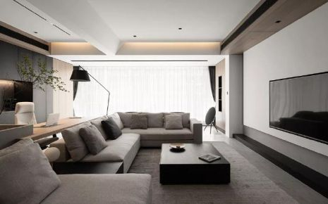 140平四居室,沉稳黑调的舒适简约