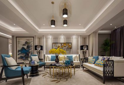 现代舒适的空间,布置中式雅韵,营造禅意气质