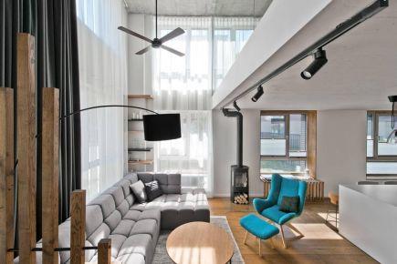 现代极简,水泥风的空间,细致的装饰点缀,简约舒适!