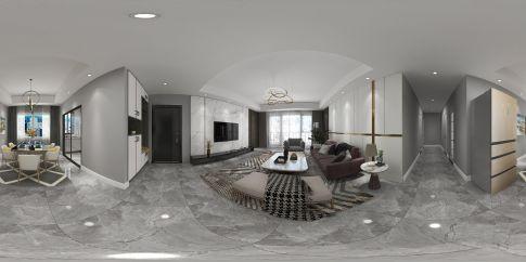 东湖公馆 装修效果图,黑白灰配色高级有质感