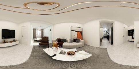 铁西小区装修效果图,现代极简白色住宅,纯净的质感生活
