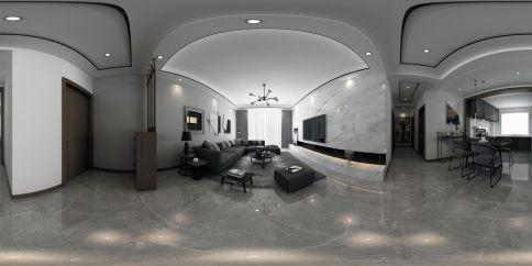泰郡三期装修效果图,现代高级灰,时尚优雅,艺术感满满的家