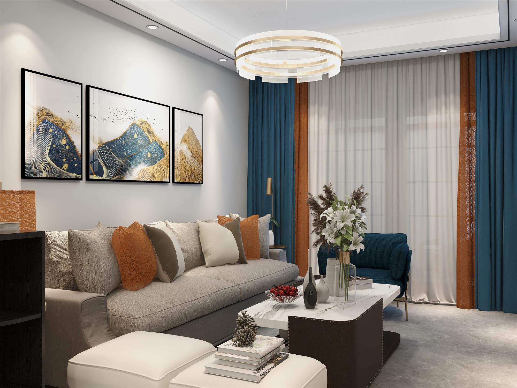 金宝山庄三室两厅现代风格